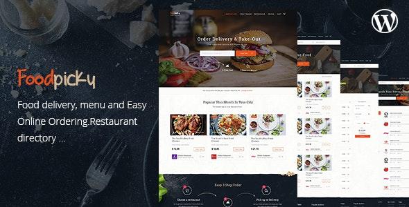 FoodPicky v1.2.7 — Food Delivery Restaurant Directory WordPress Theme