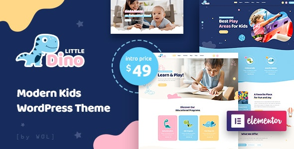 Littledino v1.0.1 — Modern Kids WordPress Theme