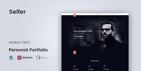 Selfer v1.2.4 — Minimal Personal Portfolio WordPress Theme