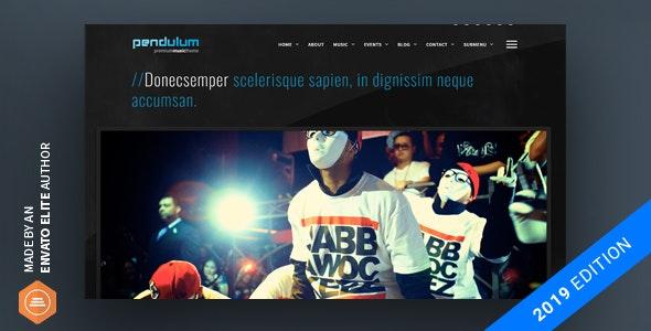 Pendulum v3.0.2 — Beat Producers, DJs & Events Theme for WordPress