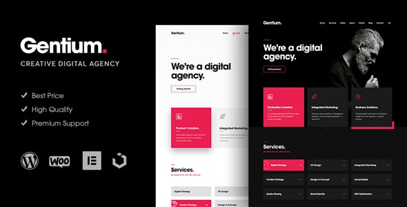 Gentium v1.1.1 — A Creative Digital Agency WordPress Theme