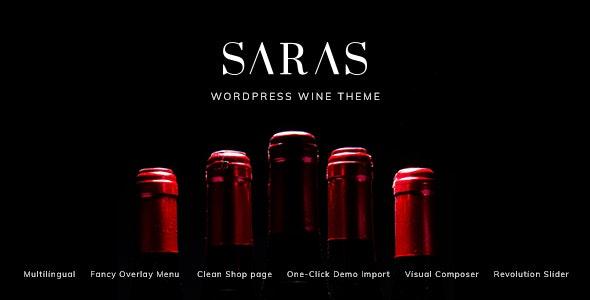Saras v1.1 — Wine WordPress Theme