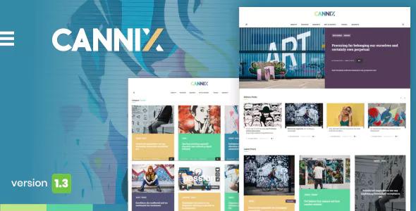 Cannix v1.3.2 — A Vibrant WordPress Theme