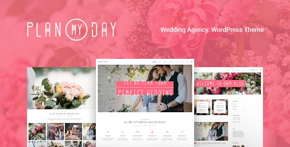 Plan My Day v1.1.4 — Wedding / Event Planning Agency WordPress Theme