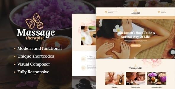 Massage Therapist and Spa Salon v1.2 — WordPress Theme