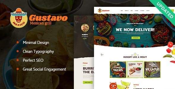 Gustavo v1.2.2 — Mexican Grill, Bar & Restaurant WordPress Theme
