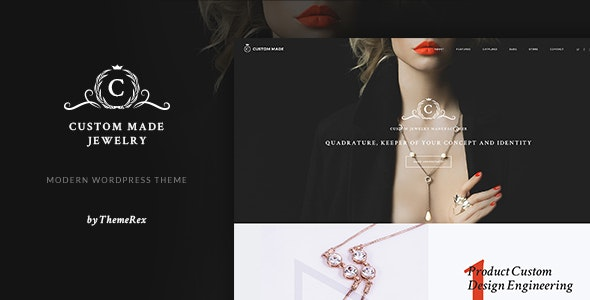 Custom Made v1.1.5 — Jewelry Manufacturer and Store WordPress Theme