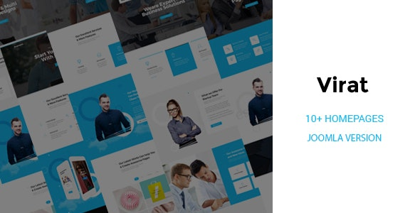 Virat v1.0.2 — Responsive Multi-Purpose Joomla Website Template with Page Builder