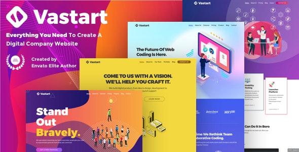 Vastart v1.2.14 — Digital Company & Startup WordPress Theme