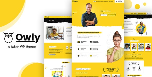 Owly v1.3 — Tutor, Training WordPress, elearning Theme
