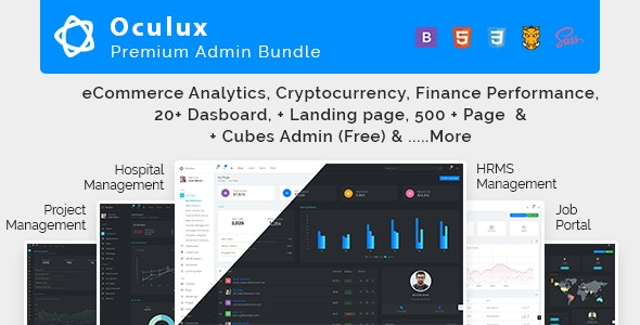 Oculux Mega Bundle v2.7.0 — Responsive Admin Dashboard Template & ui kit