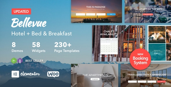 Bellevue v3.2.2 — Hotel + Bed and Breakfast Booking Calendar Theme