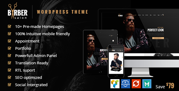 Barber v1.2.2 — Hair, Tattoo & Beauty Salons Theme