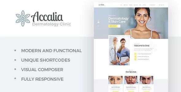 Accalia v1.2.2 — Dermatology Clinic WordPress Theme