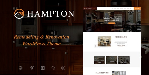 Hampton v1.1.4 — Home Design and House Renovation WordPress Theme