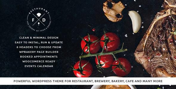 Food & Drink v1.5.2 — An Elegant Cafe & Restaurant WordPress Theme