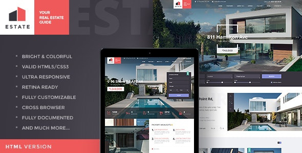 Estate v1.3.4 — Property Sales & Rental WordPress Theme + RTL
