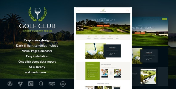 Golf Club v1.4.3 — Sports & Events WordPress Theme