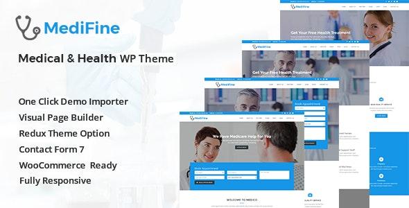 MediFine v1.0.0 — Health and Medical WordPress Theme