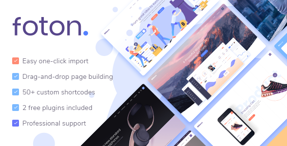 Foton v1.3 — A Multi-concept Software Landing Theme