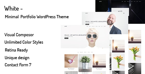 White v1.0.0 — Minimal Portfolio WordPress Theme