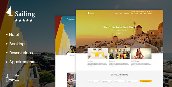 Sailing v4.1 — Hotel WordPress Theme