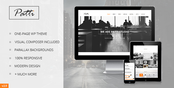 Patti v2.9.12 — Parallax One Page WordPress Theme