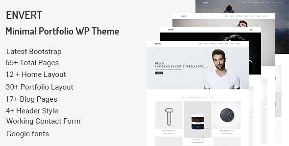 Envert v1.0.0 — Minimal Portfolio WordPress Theme