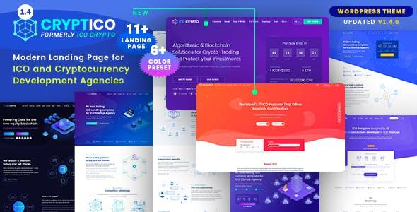 Cryptico v1.4.3 — ICO Crypto Landing & Cryptocurrency Theme