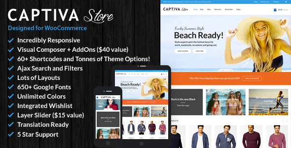 Captiva v2.2 — Responsive WordPress WooCommerce Theme