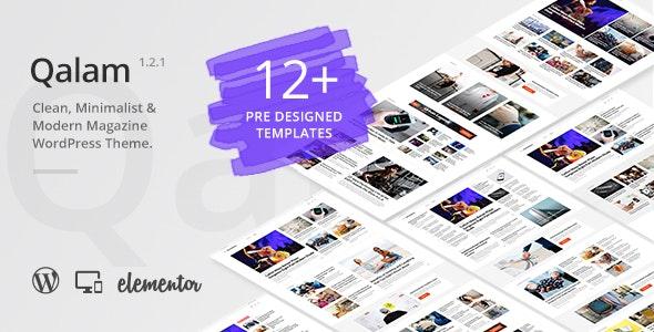 Qalam v1.2.1 — NewsPaper and Magazine WordPress Theme