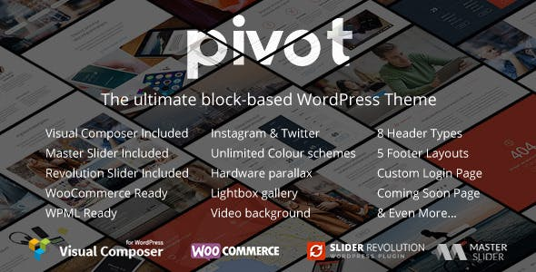 Pivot v1.4.26 — Responsive Multipurpose WordPress Theme