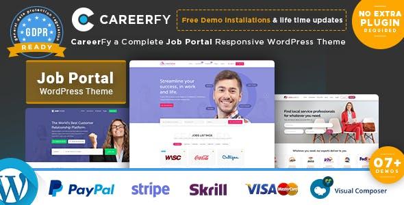Careerfy v2.5.4 — Job Board WordPress Theme