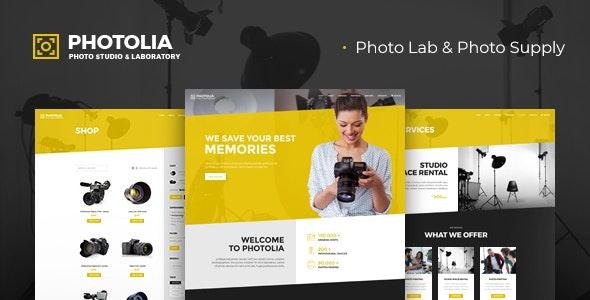 Photolia v1.0.3 — Photo Company & Supply Store WordPress Theme