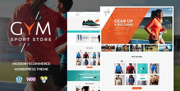 GYM v1.2.2 — Sports Clothing & Equipment Store WordPress Theme