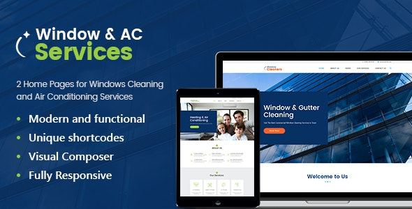 AC Services v1.2.5 — Air Conditioning and Heating Company WordPress Theme