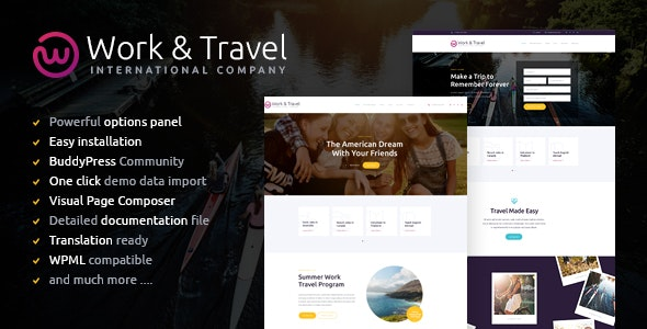 Work & Travel Company & Youth Programs v1.2 — WordPress Theme