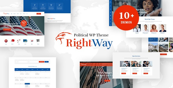 Right Way v4.0 — Election Campaign and Political Candidate WordPress Theme