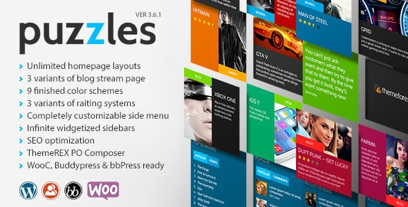 Puzzles v4.2 — WP Magazine / Review with Store WordPress Theme + RTL