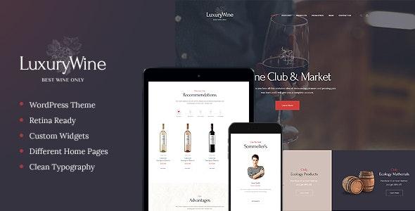 Luxury Wine v1.1.3 — Liquor Store & Vineyard WordPress Theme + Shop