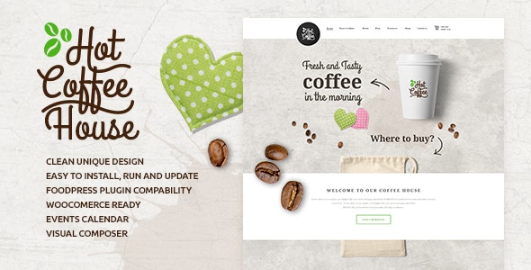Hot Coffee v1.7 — Cafe / Restaurant / Bar WordPress Theme