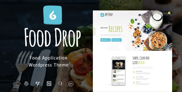 Food Drop v1.3 — Meal Ordering & Delivery Mobile App WordPress Theme