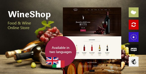 WineShop v2.3.1 — Food & Wine Online Store WordPress Theme