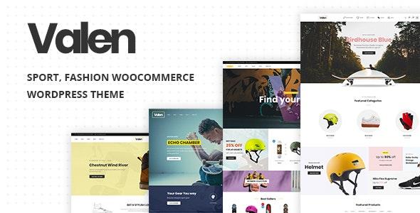 Valen v1.5 — Sport, Fashion WooCommerce WordPress Theme