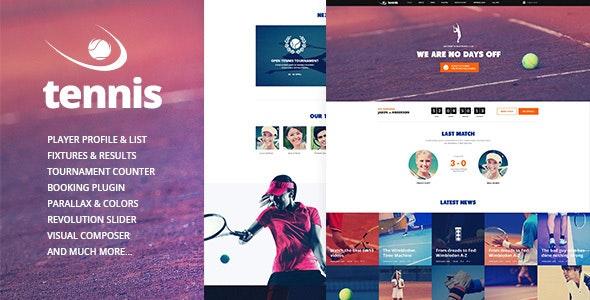 Tennis v1.2.3 — Sport Club & Events WordPress Theme