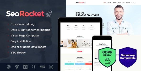Seo Rocket v1.3 — Advertising & Marketing WordPress Theme