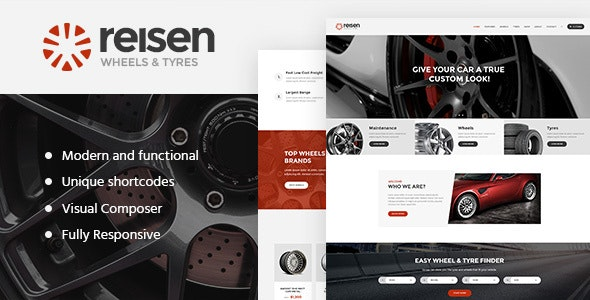 Reisen v1.4.1 — Automechanic & Auto Body Repair Car WordPress Theme