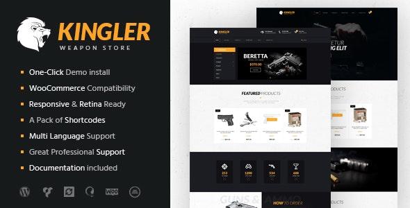 Kingler v1.7 — Weapon Store & Gun Training WordPress Theme