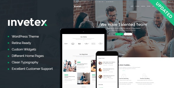 Invetex v1.7.1 — Business Consulting & Investments WordPress Theme + RTL