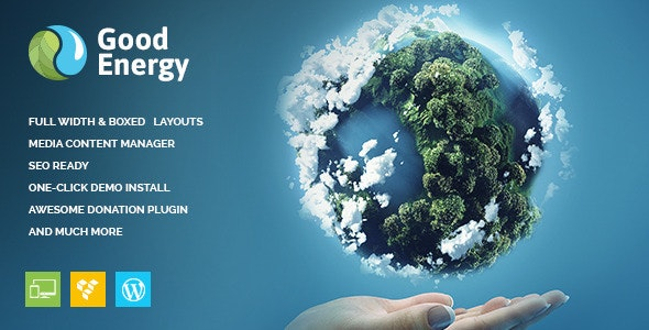 Good Energy v1.6 — Ecology & Renewable Power Company WordPress Theme